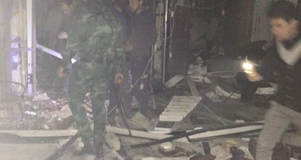 صورة من موقع الهجوم الأرهابي في بغداد الجديدة بتاريخ الأثنين 11/كانون الثاني/2016