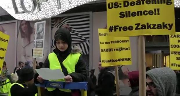 فيديو .. مظاهرات في أمريكا مناهضة للسعودية