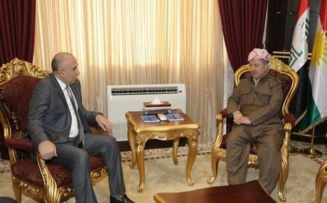 بارزاني ومحافظ نينوى يبحثان آلية استعادة الموصل