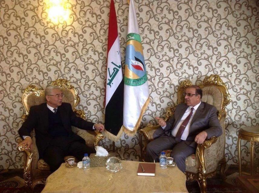 العضاض يبحث مع السفير الصيني آفاق التعاون المشترك بين بغداد وبكين