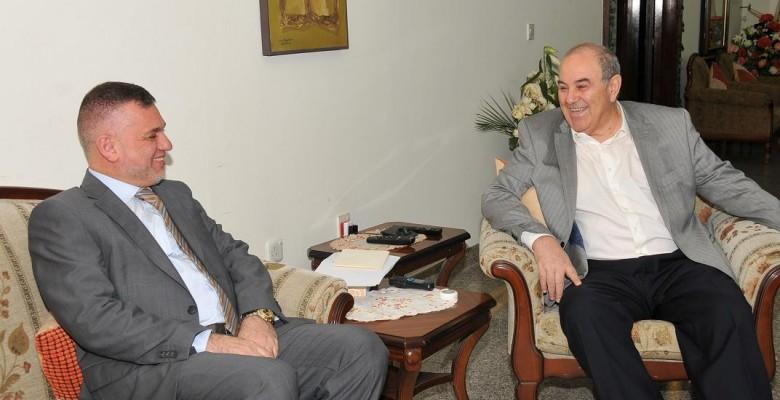 علاوي والاعرجي يؤكدان على تعضيد مساعي تحقيق المصالحة السياسية في العراق