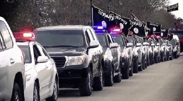 رتل تابع لتنظيم داعش الأجرامي (أرشيف)