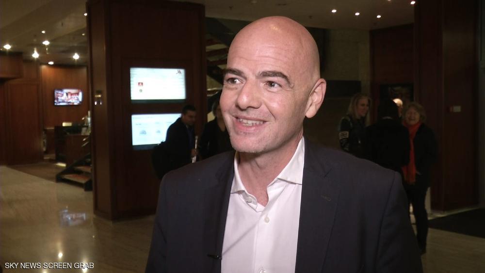 رئيس الاتحاد الدولي لكرة القدم السويسري جياني إنفانتينو (Sky News Arabia)