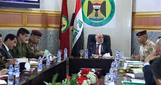 حيدر-العبادي-يعقد-اجتماعا-مع-القيادات-العسكرية-والامنية-في-مقر-قيادة-عمليات-بغداد