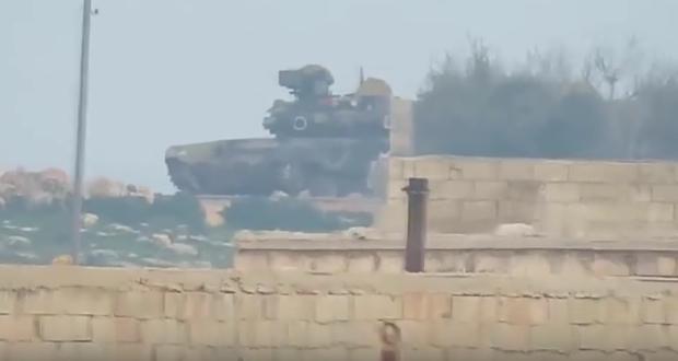دبابة روسية تابعة للجيش العربي السوري (لقطة من الفيديو)