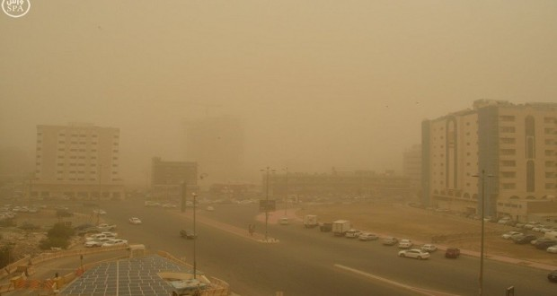 غبار شديد يضرب مكة المكرمة (واس) spa.gov.sa