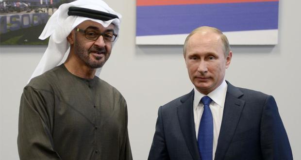 بوتين يستقبل الخميس ولي عهد أبو ظبي لبحث التسوية السورية