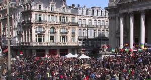 آلآلاف من أنصار اليمين البلجيكي المتطرف يتظاهرون في بروكسيل
