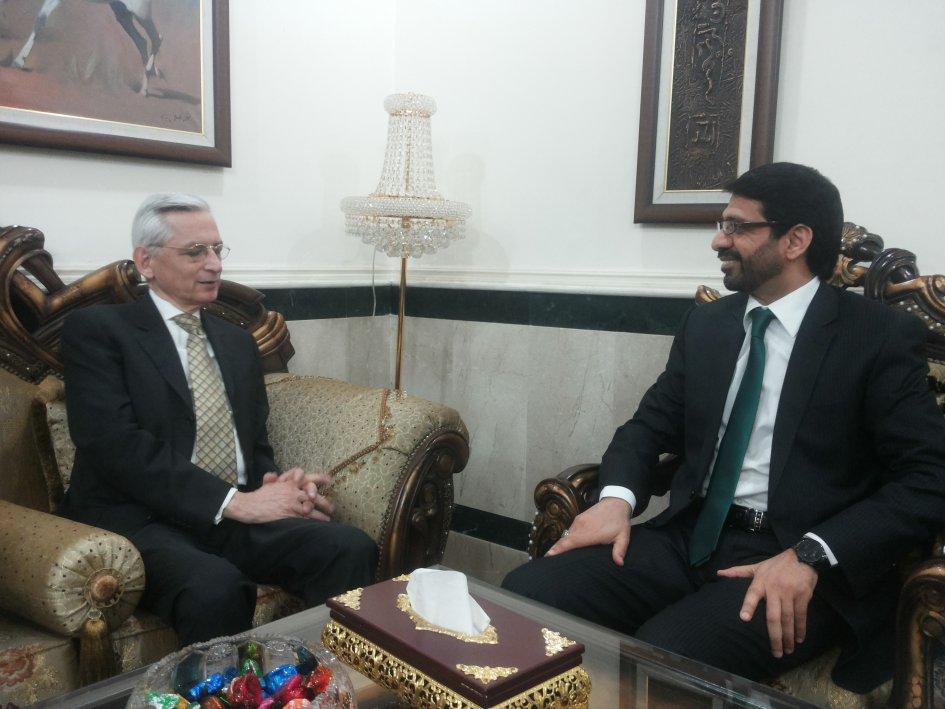 رئيس هيئة النزاهة يلتقي السفير الفرنسي في بغداد ويبحث معه عمل الهيئة