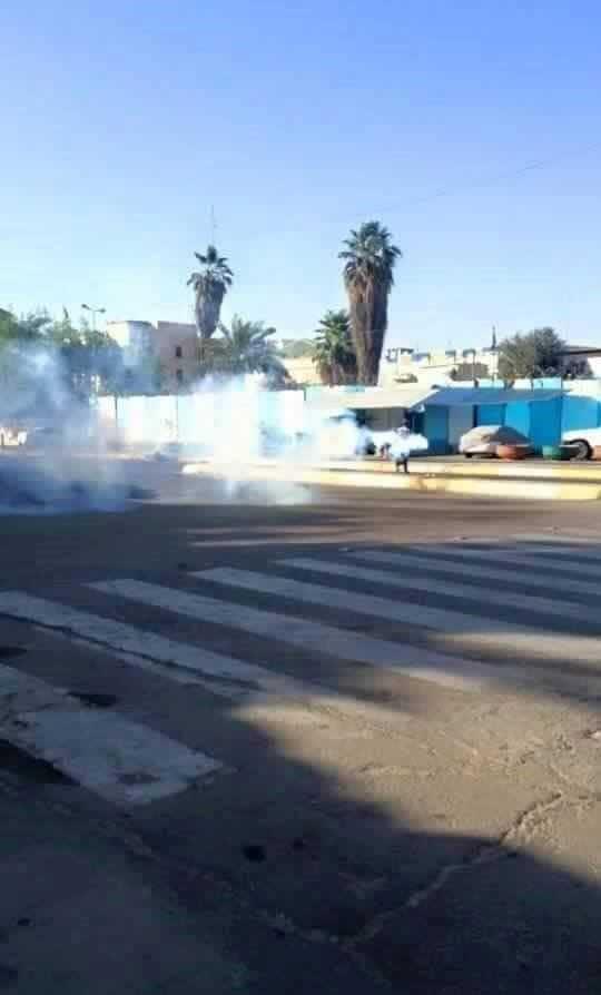 متظاهرون يغلقون طريقاً قرب ملعب الشعب وسط بغداد