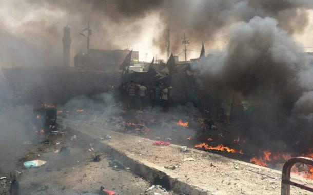 انفجار سيارة مفخخة في منطقة اليوسفية مستهدفة سيطرة تابعة للجيش والشرطة العراقية