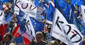 تظاهرات في بولندا ضد الحكومة