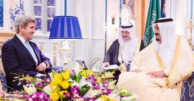 جون كيري يبحث مع الملك سلمان الهدنة السورية