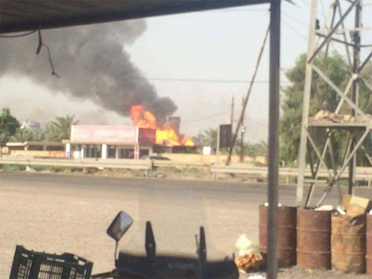 بالفيديو: لحظة استهداف داعش لمعمل غاز التاجي شمال العاصمة بغداد