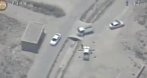 """بالفيديو: غارات الجيش العراقي على معاقل """"داعش"""" الأرهابي في الفلوجة (لقطة من الفيديو)"""