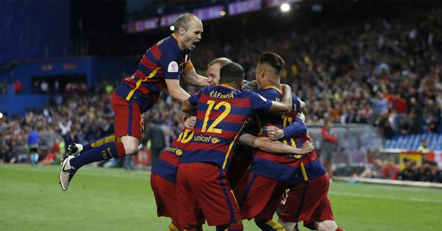 برشلونة يهزم إشبيلية ويعانق كأس الملك (فيديو)
