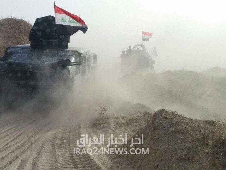 القوات الامنية العراقية تطهر قرية المختار شمالي #الفلوجة