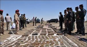 """العثور على مخبأ للأسلحة تابع لـ""""داعش"""" في سامراء"""