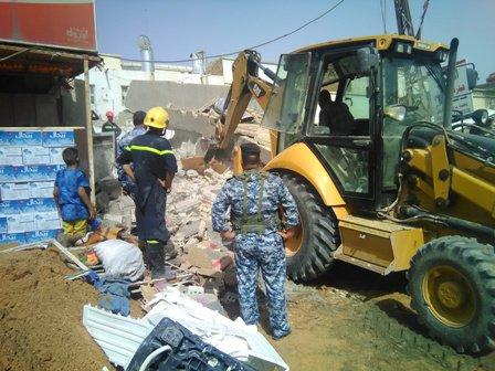 انهيار عمارة سكنية بابل الحلة (3)