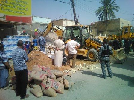 انهيار عمارة سكنية بابل الحلة (4)
