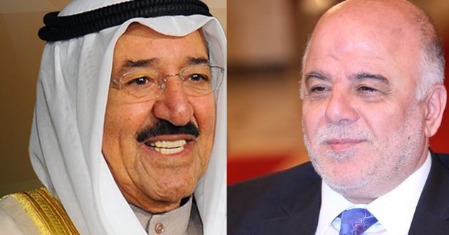 الامير الكويتي يتسلم رسالة من حيدر العبادي