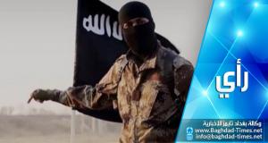 عنصر من عصابة داعش الأرهابية (تعبيرية)