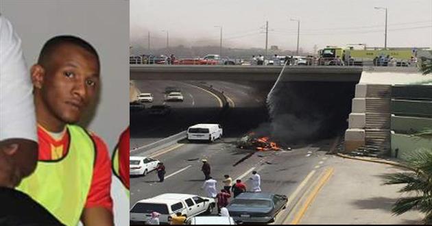 بالفيديو.. وفاة لاعب سعودي تفحماً داخل سيارته