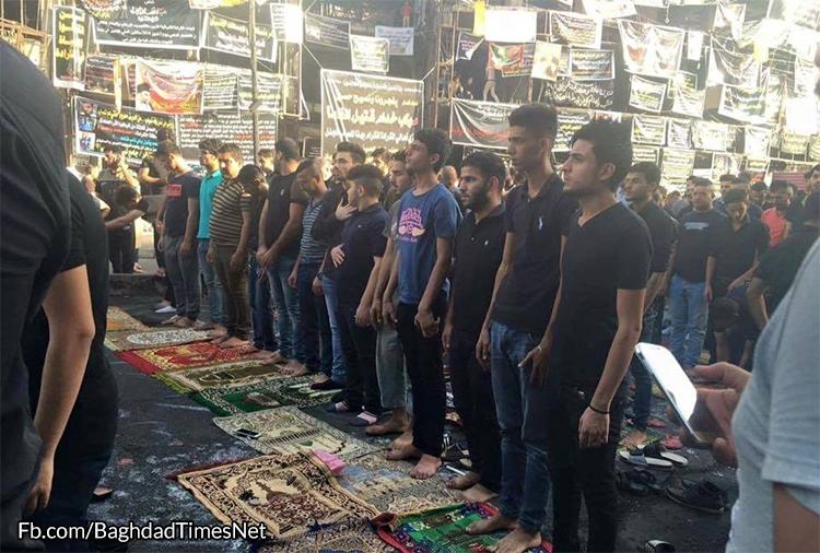 بالصور .. صلاة العيد الموحدة في موقع أنفجار الكرادة في بغداد