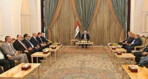 رئيس جمهورية العراق فؤاد معصوم يلتقي أعضاء المجلس الأقتصادي العراقي (19/تموز/2016)