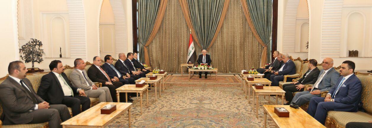 فؤاد معصوم يلتقي أعضاء المجلس الأقتصادي العراقي