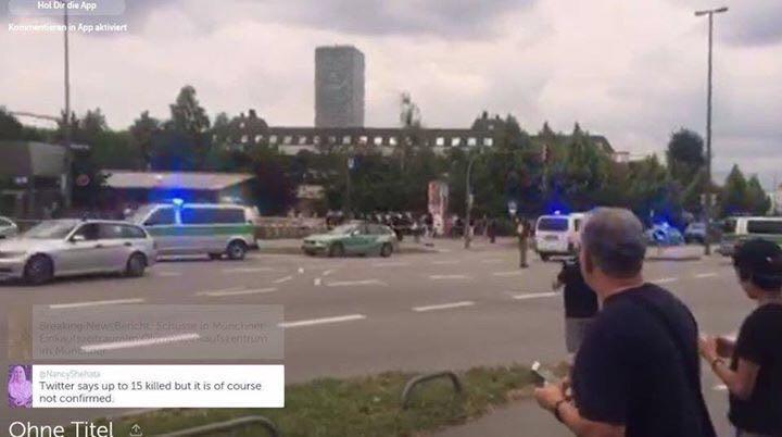 الصور الاولى للهجوم الارهابي الذي ضرب مركز تسوق وسط ميونيخ الألمانية