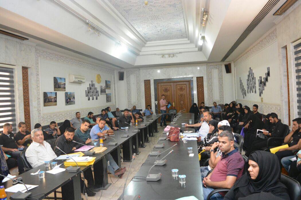 العلاق يعقد اجتماعاً موسعاً مع آمنية بغداد وعدد من المسؤولين لرفع أنقاض بنايتي الليث والهادي في الكرادة