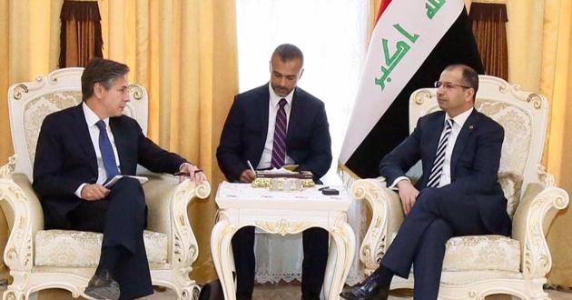 سليم الجبوري يبحث مع انتوني بلينكن تحرير الموصل (+صور)