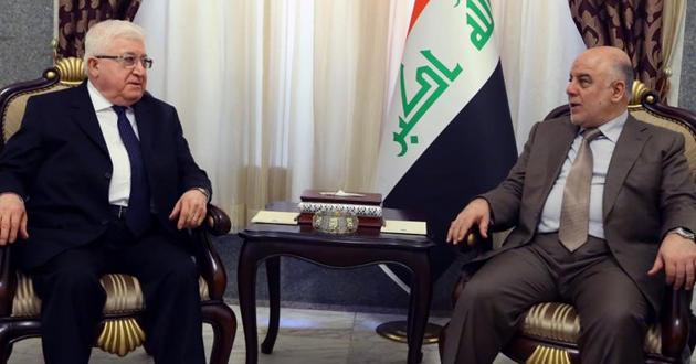 العبادي ومعصوم يبحثان الاستعدادات العسكرية لمعركة تحرير الموصل