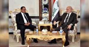ابراهيم الجعفري يستقبل صالح الشاعري في بغداد (28/تشرين الاول/2016)