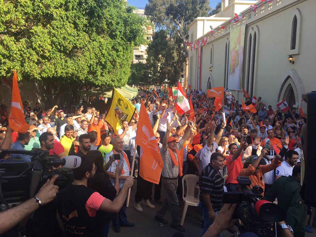 مواجهات بين المتظاهرين وقوة الامن اللبنانية امام مجلس النواب