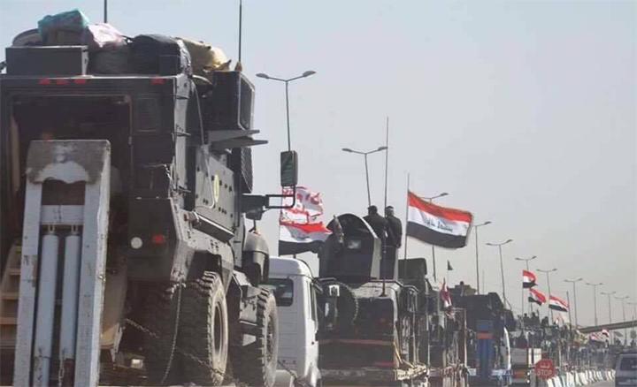 ارتال قوات مكافحة الارهاب تتحرك بأتجاه الموصل (11/تشرين الأول/2016)
