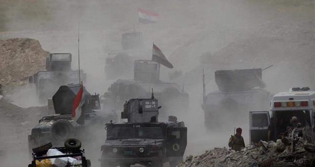 """القوات العراقية بأتجاه مدينة الفلوجة لتحريرها من سيطرة """"داعش"""" الارهابي، (حزيران/2016) - Reuters Alaa Al-Marjani"""