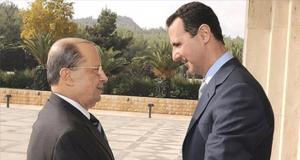 الرئيس السوري بشار الاسد ونظيره اللبناني ميشال عون (ارشيف)