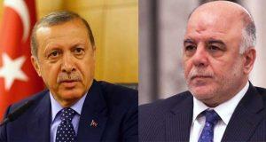رئيس الوزراء العراقي حيدر العبادي، والرئيس التركي رجب طيب اردوغان (ارشيفية)