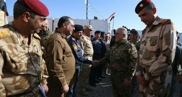 حيدر العبادي يتفقد القطعات العسكرية في منطقة عمليات قادمون يانينوى (31/تشرين الاول/2016)