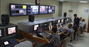 من داخل احد استوديوهات شبكة الإعلام العراقي في بغداد (ارشيف)
