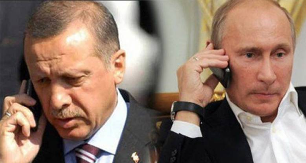 بوتين يبحث هاتفياً مع أردوغان الأزمة السورية وتحرير الموصل