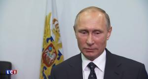 الرئيس الروسي فلاديمير بوتين يحمل امريكا وامريكا وحلفائها مسؤولية ما يجري في سوريا والمنطقة (Screenshot/TF1.FR)