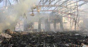 مجلس العزاء الذي تعرض لقصف جوي السبت (8/تشرين الأول/2016) - مصدر الصورة: Twitter