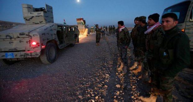 القوات الامنية العراقية في محور الخازر - عمليات تحرير الموصل (17/تشرين الأول/2016)
