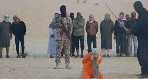 """إعدام الشيخ سليمان أبو حراز على يد مسلحي تنظيم """"داعش"""" بسيناء المصرية"""