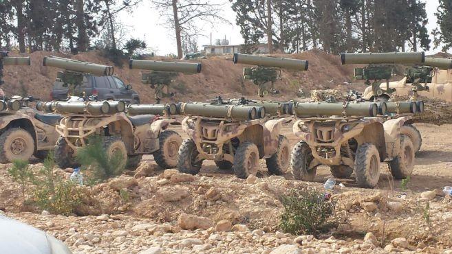 استعراض عسكري لحزب الله اللبناني في سوريا (13/تشرين الثاني/2016)