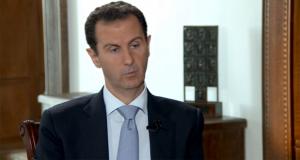 لقطة من مقابلة الرئيس الأسد مع صحيفة بوليتكا الصربية