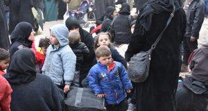 نساء واطفال سوريون في الأحياء الشرقية من حلب / ارشيفية © EPA/SANA/HANDOUT
